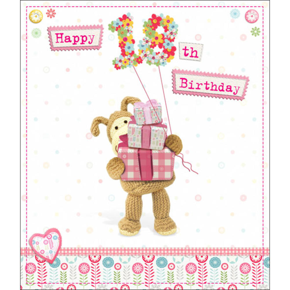 Boofle Happy 18th Birthday Greeting Card