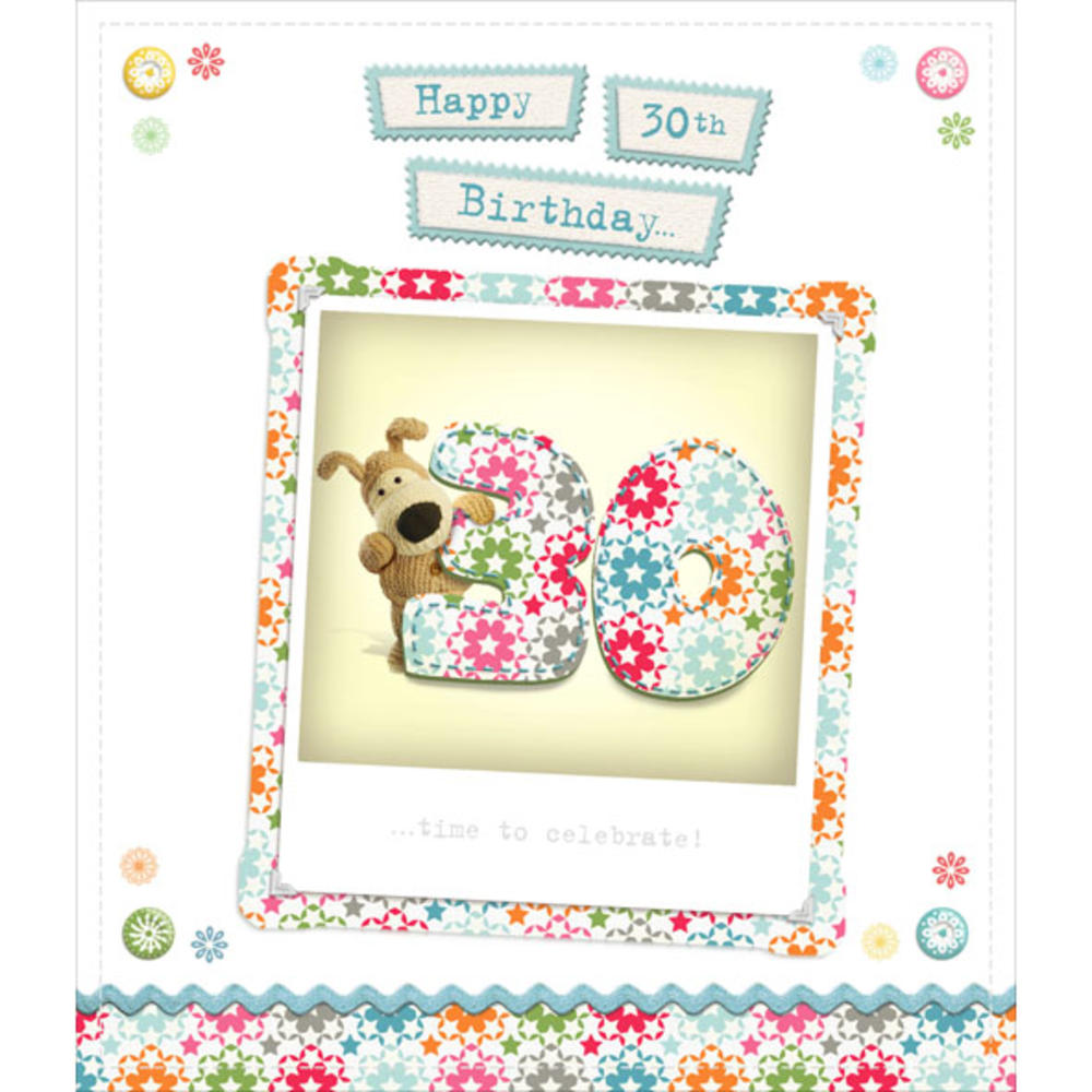 Boofle happy 30th birthday greeting card cards love kates boofle happy 30th birthday greeting card kristyandbryce Choice Image