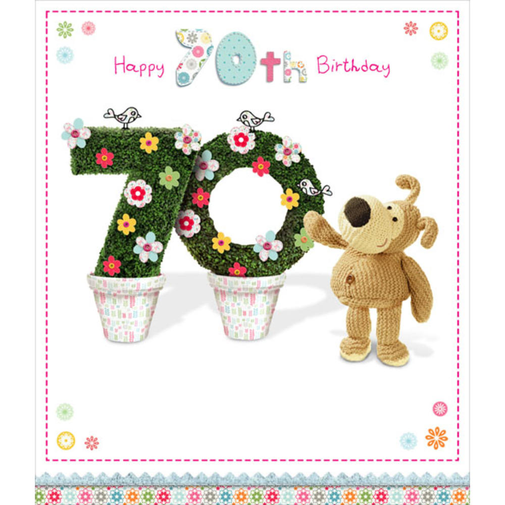 Boofle Happy 70th Birthday Greeting Card