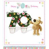 Boofle Happy 70th Birthday Greeting Card