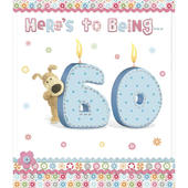 Boofle Happy 60th Birthday Greeting Card