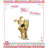 Boofle Happy 50th Birthday Greeting Card