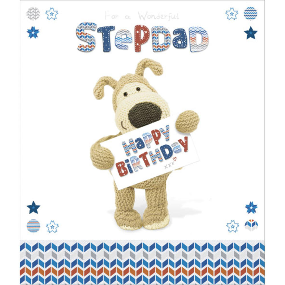 Boofle Stepdad Happy Birthday Greeting Card