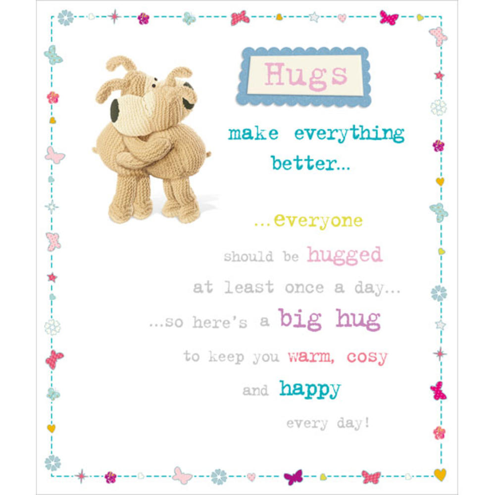 Boofle Hugs Make Everything Better Greeting Card