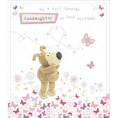 Boofle Goddaughter Happy Birthday Greeting Card