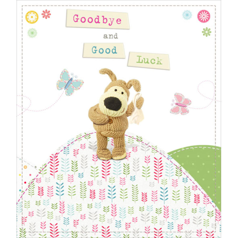 Boofle goodbye good luck greeting card cards love kates boofle goodbye good luck greeting card kristyandbryce Image collections