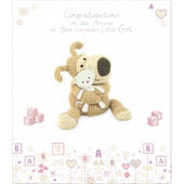Boofle New Baby Girl Greeting Card