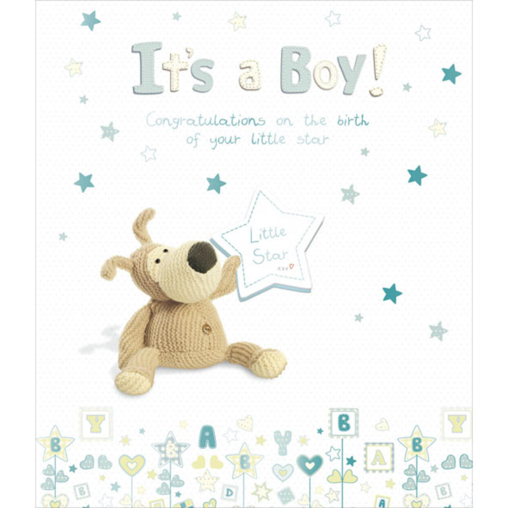 Boofle New Baby Boy Greeting Card