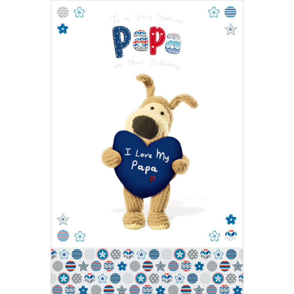 Boofle Papa Happy Birthday Greeting Card