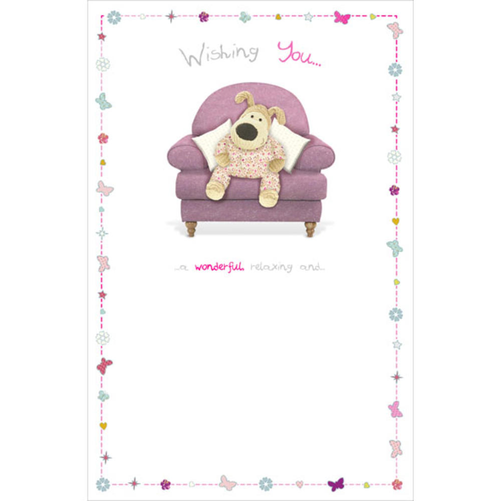 Boofle Relaxing Happy Birthday Greeting Card