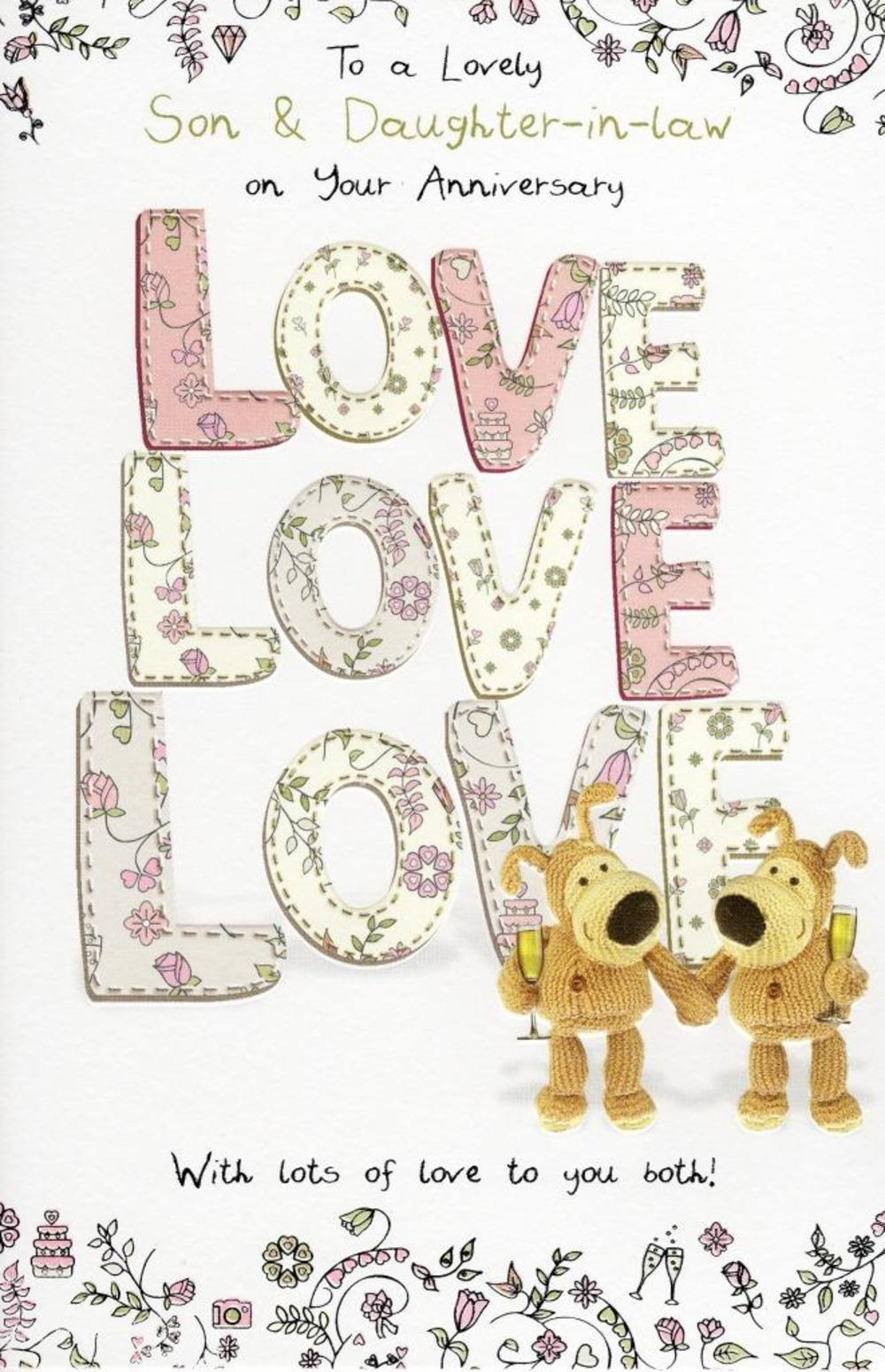 Boofle son daughter in law anniversary greeting card