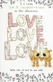 Boofle Son & Daughter-In-Law Anniversary Greeting Card