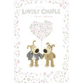 Boofle Lovely Couple Wedding Day Greeting Card