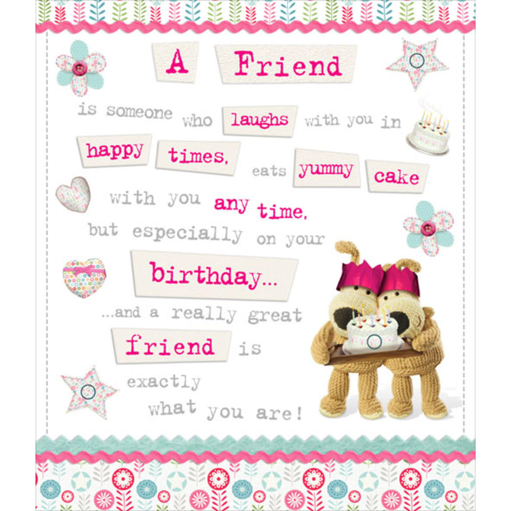 boofle special friend happy birthday greeting card cards