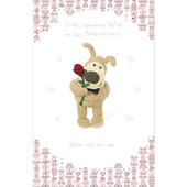 Boofle Wife On Our Anniversary Greeting Card