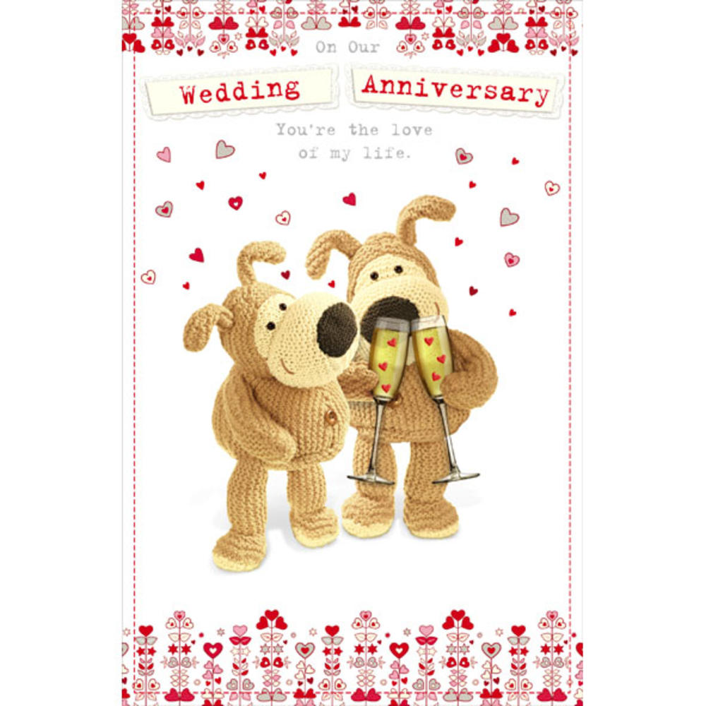 Boofle on our wedding anniversary greeting card cards