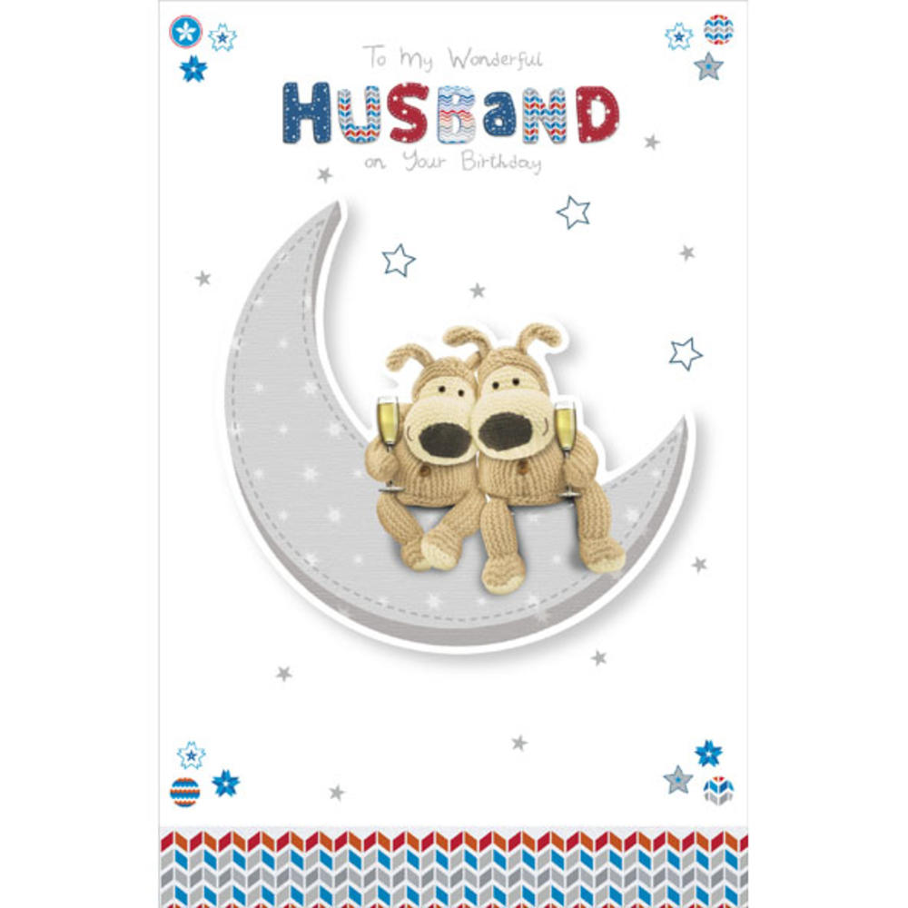 Boofle Husband Happy Birthday Greeting Card