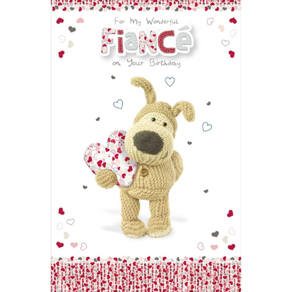 Boofle Fiance Happy Birthday Greeting Card