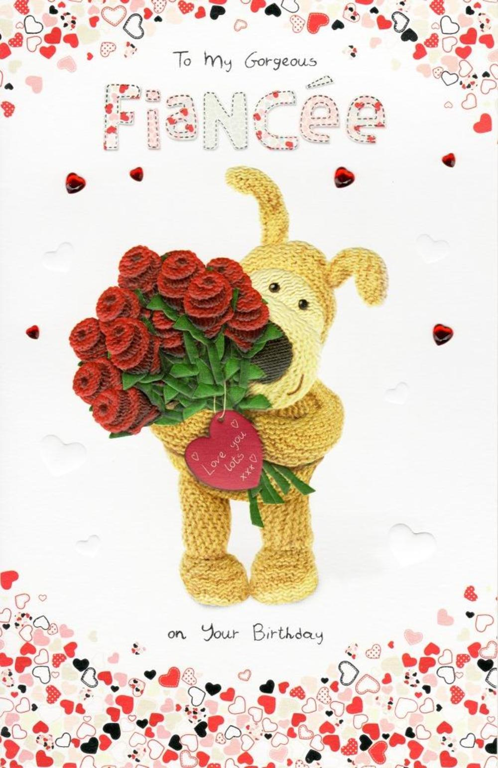 Boofle Fiancee Happy Birthday Greeting Card Cards