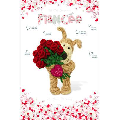 Boofle Fiancee Happy Birthday Greeting Card