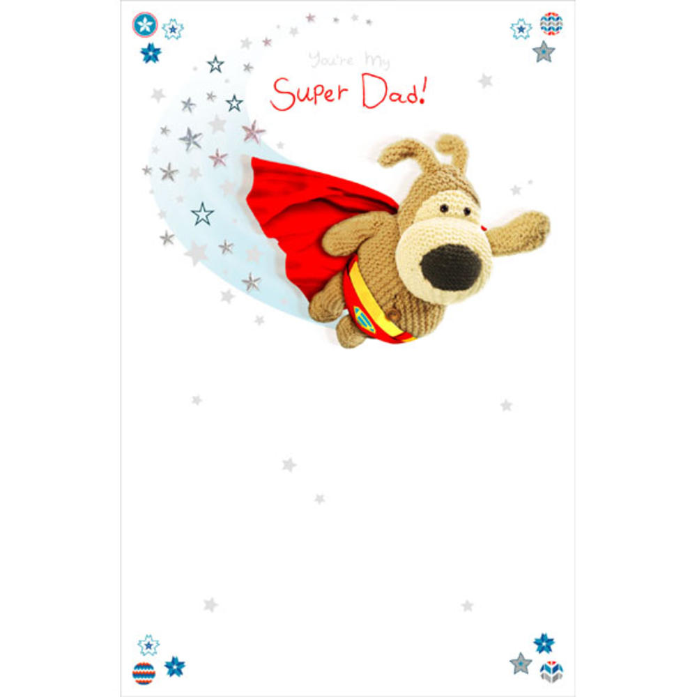 Boofle Super Dad Happy Birthday Greeting Card