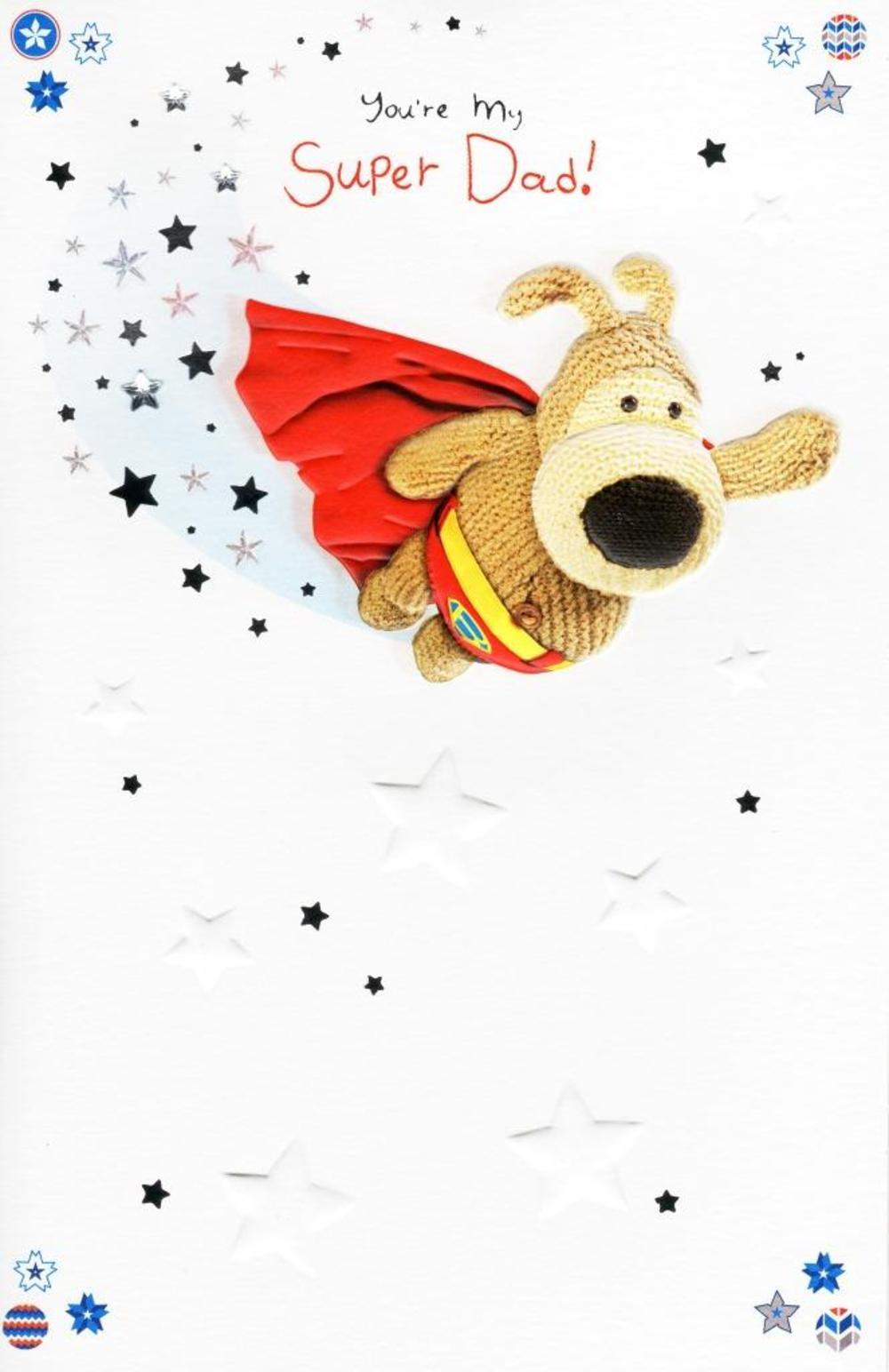 Boofle Super Dad Happy Birthday Greeting Card Thumbnail 1 2