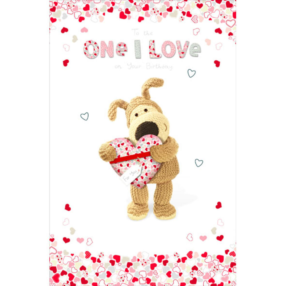 Boofle One I Love Happy Birthday Greeting Card