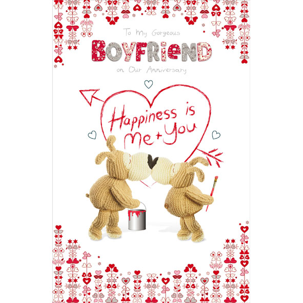 Boofle boyfriend on our anniversary greeting card cards