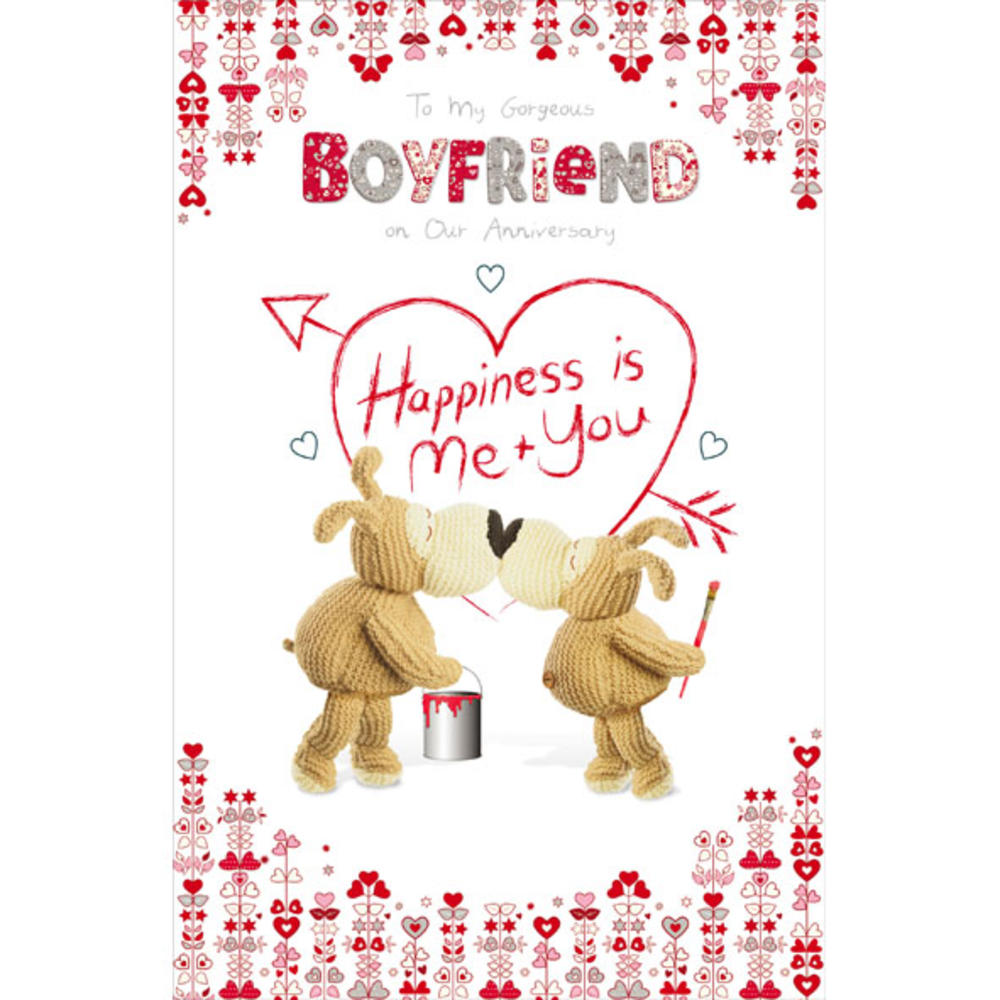 Boofle Boyfriend On Our Anniversary Greeting Card Cards Love Kates