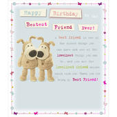 Boofle Bestest Friend Birthday Greeting Card