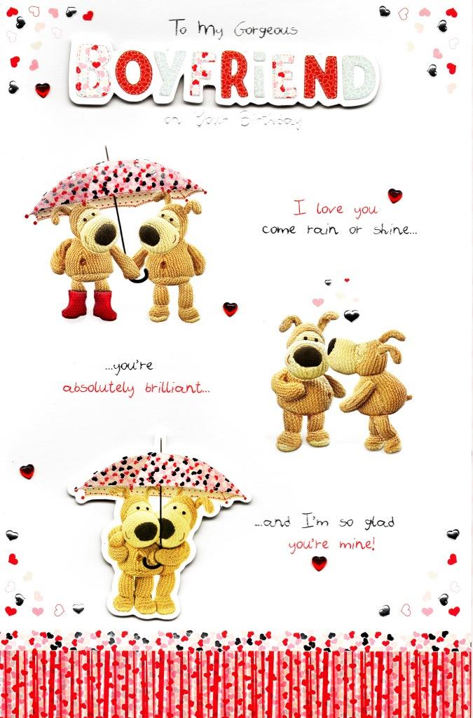 Sentinel Boofle Boyfriend Embellished Birthday Greeting Card Cute Range Greetings Cards