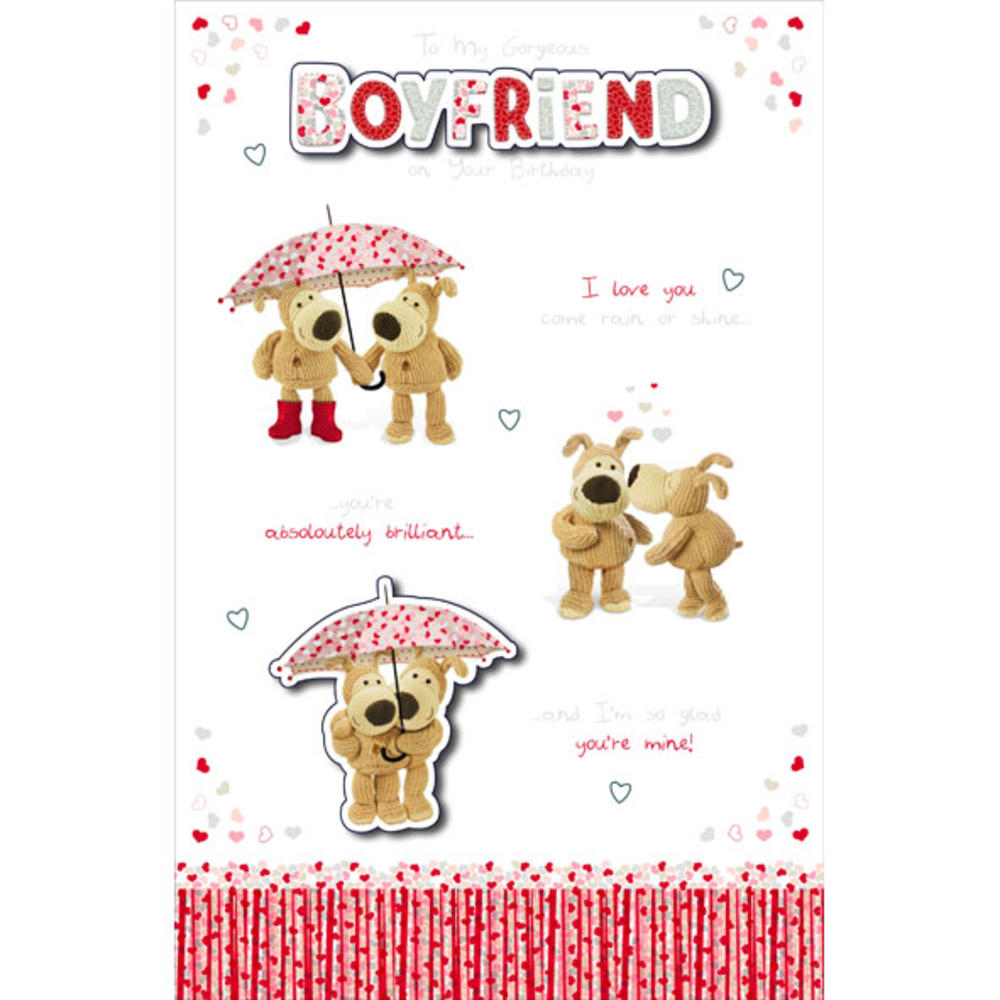 Boofle Boyfriend Embellished Birthday Greeting Card