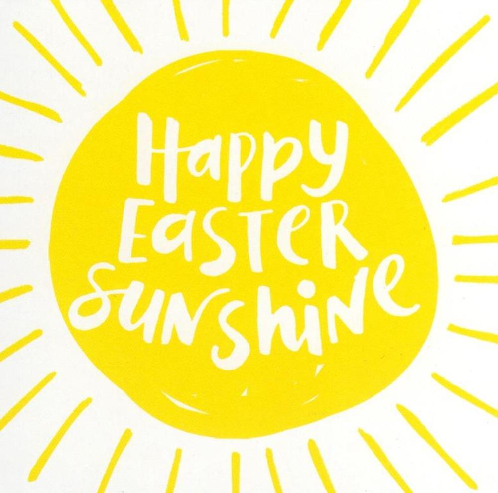 Pack of 5 Happy Easter Sunshine Greeting Cards In Same Design