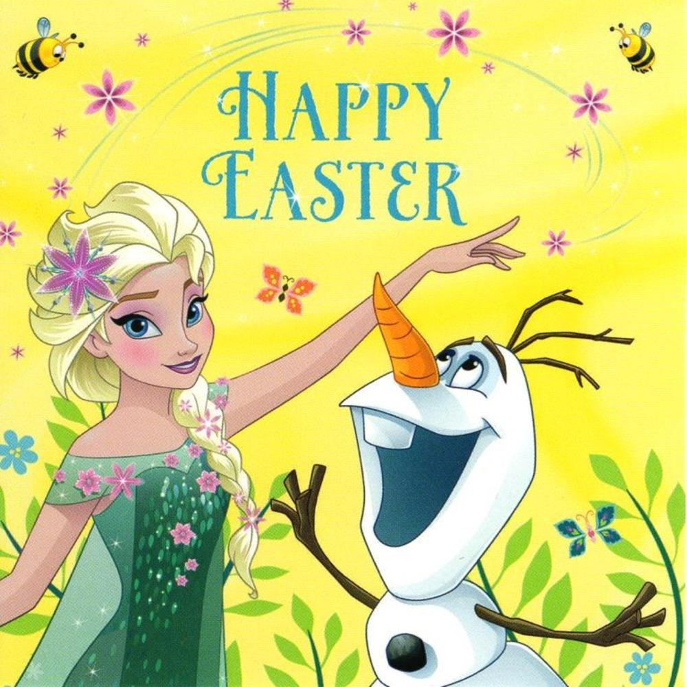 Pack of 5 Frozen Happy Easter Greeting Cards In Same Design