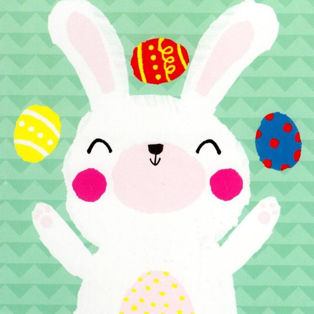 Pack of 5 Cute Bunny Easter Greeting Cards In Same Design