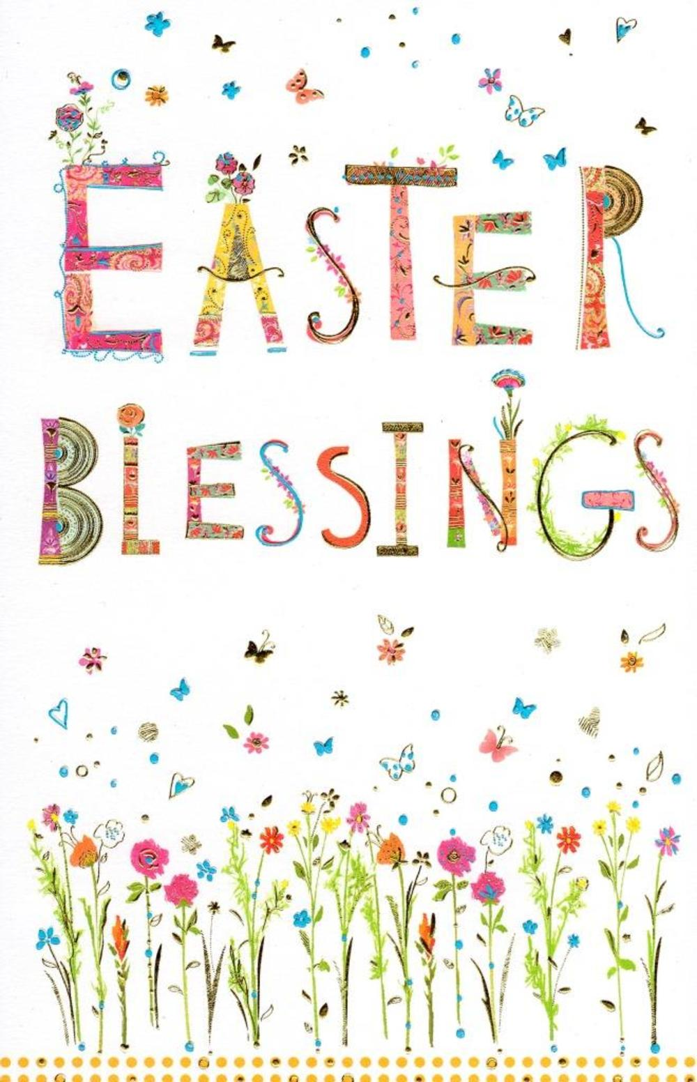 Easter blessings pretty religious greeting card cards love kates easter blessings pretty religious greeting card kristyandbryce Image collections