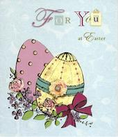 For You At Easter Pretty Traditional Greeting Card