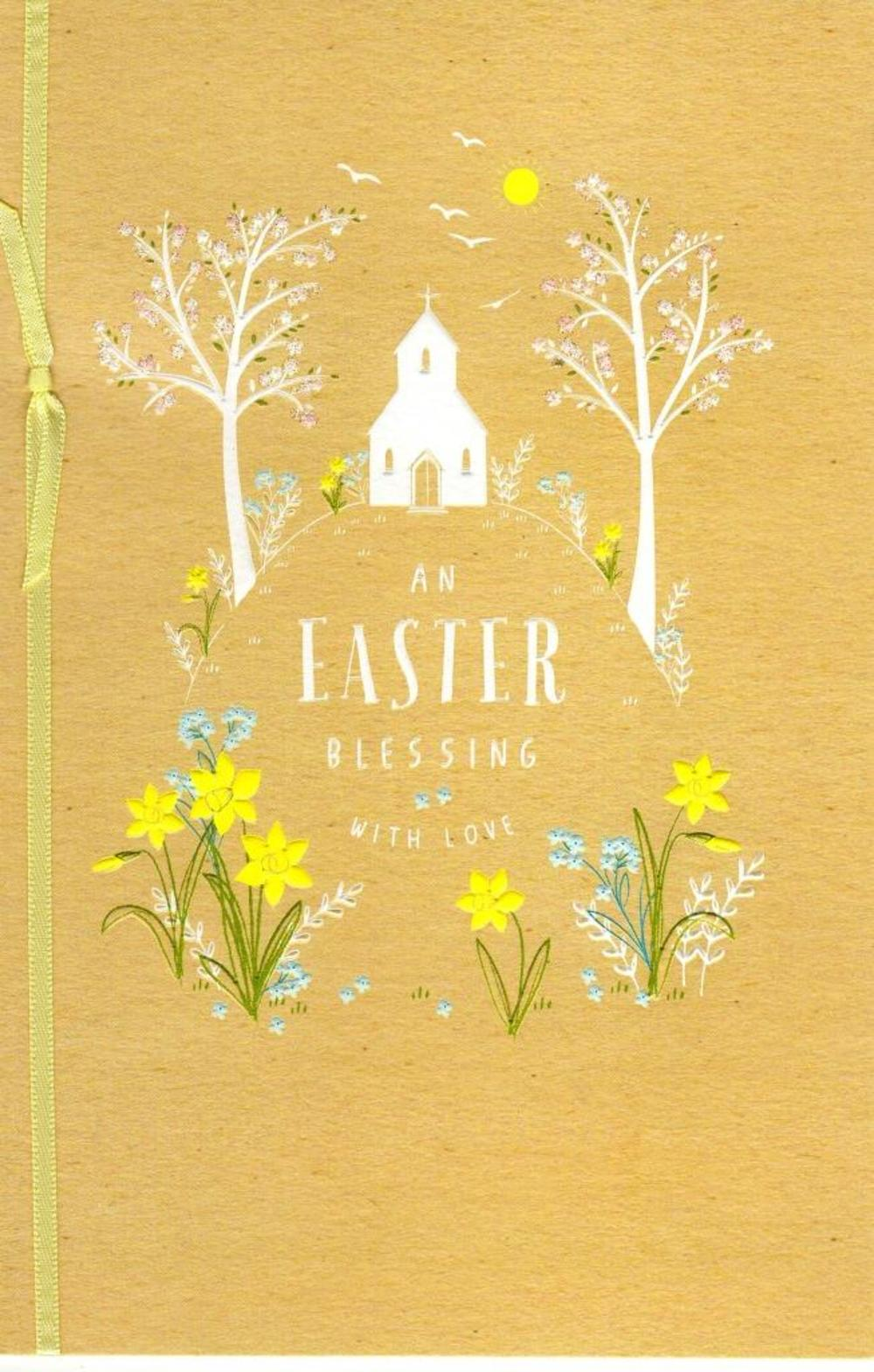 An Easter Blessing Pretty Religious Greeting Card