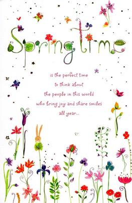 Spring Time Happy Easter Greeting Card