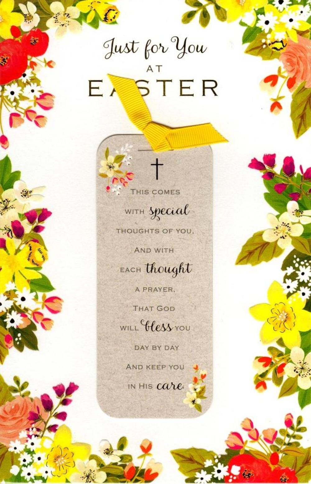 Just For You At Easter Religious Greeting Card