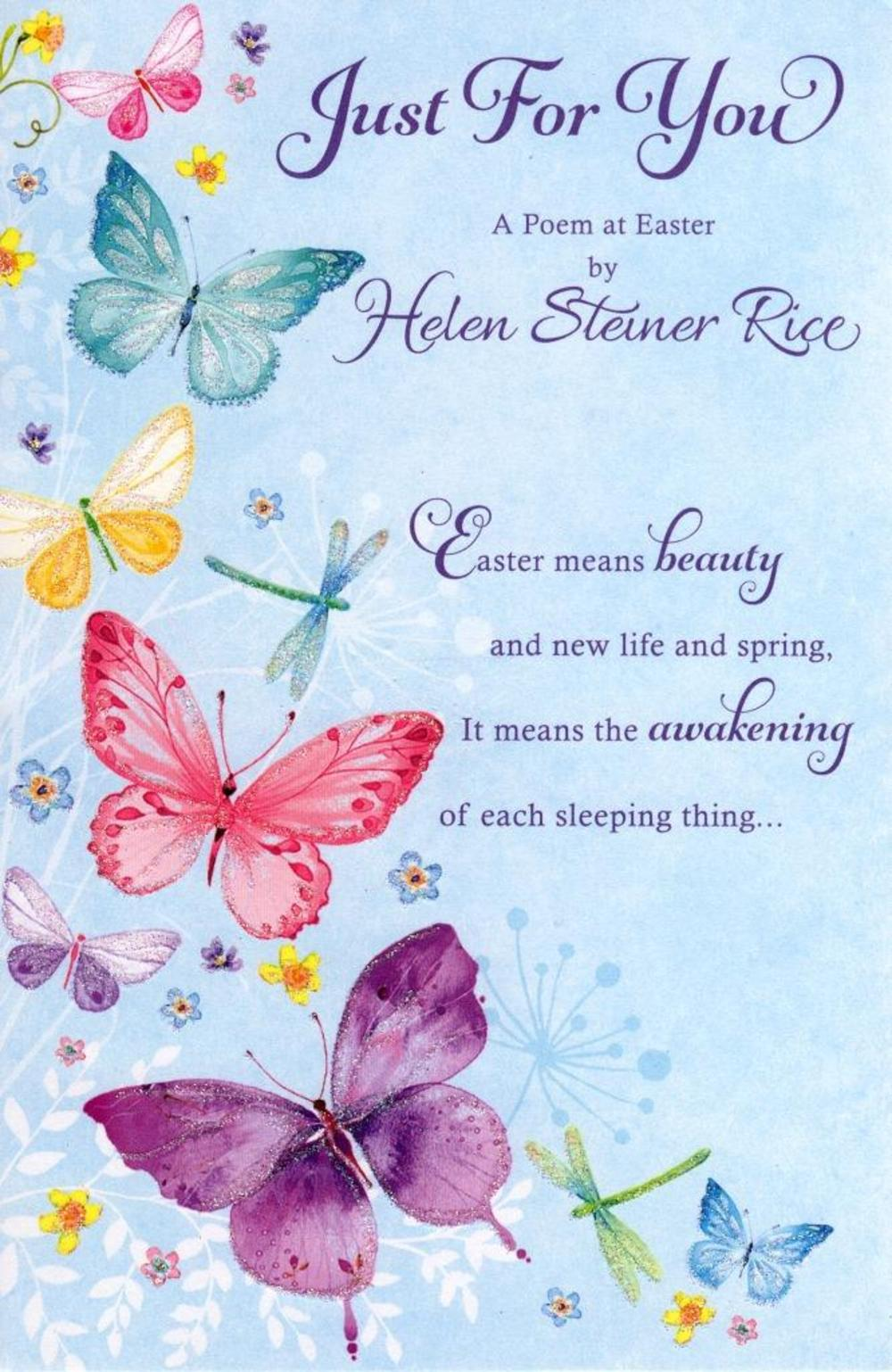 Helen Steiner Rice Just For You Easter Greeting Card