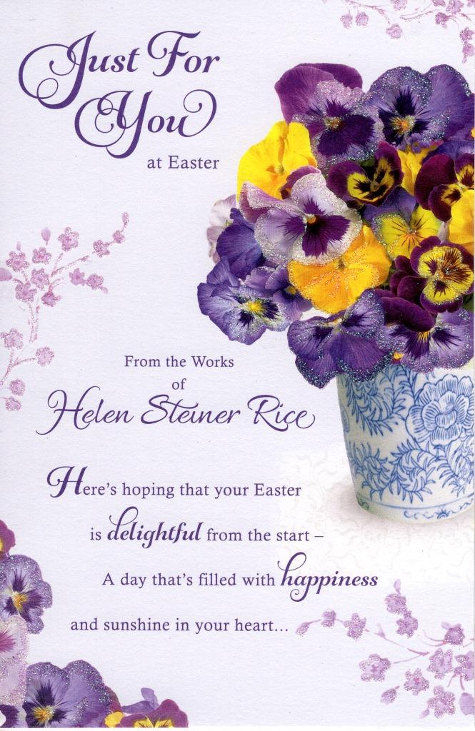 Helen steiner rice just for you easter greeting card cards love helen steiner rice just for you easter greeting card m4hsunfo Images