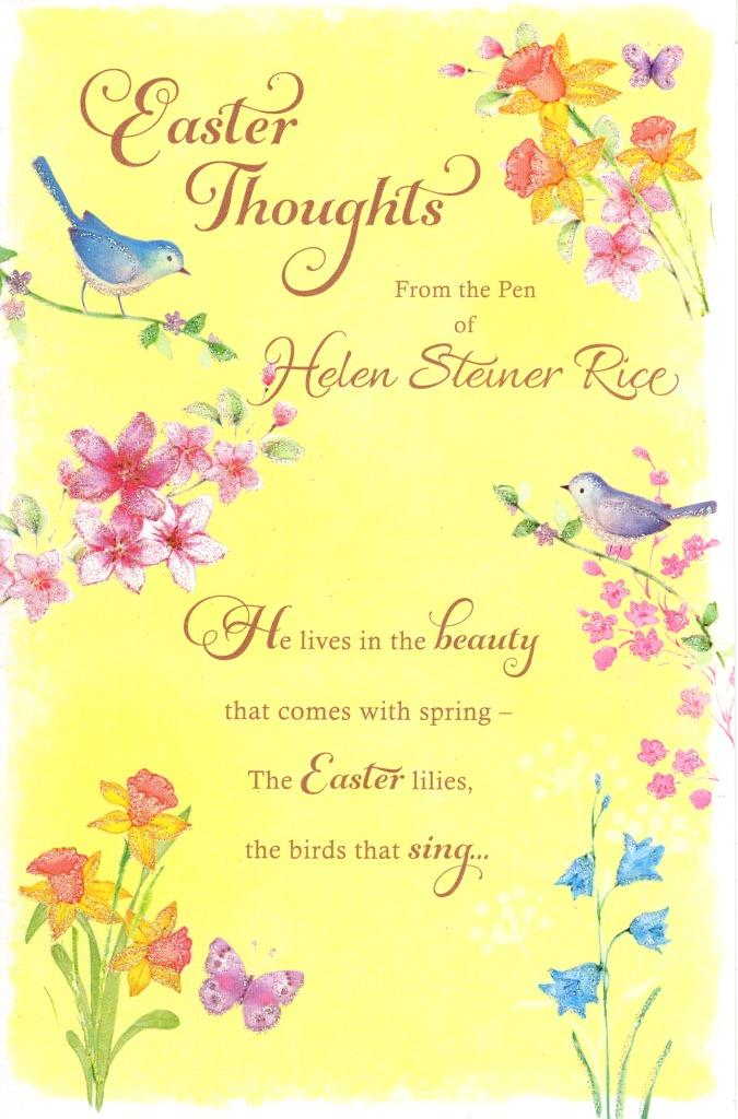 Helen steiner rice easter thoughts greeting card greetings cards sentinel helen steiner rice easter thoughts greeting card greetings cards m4hsunfo