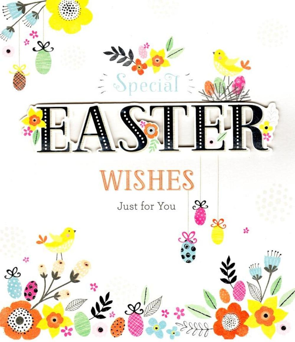 Special Easter Wishes Embellished Greeting Card