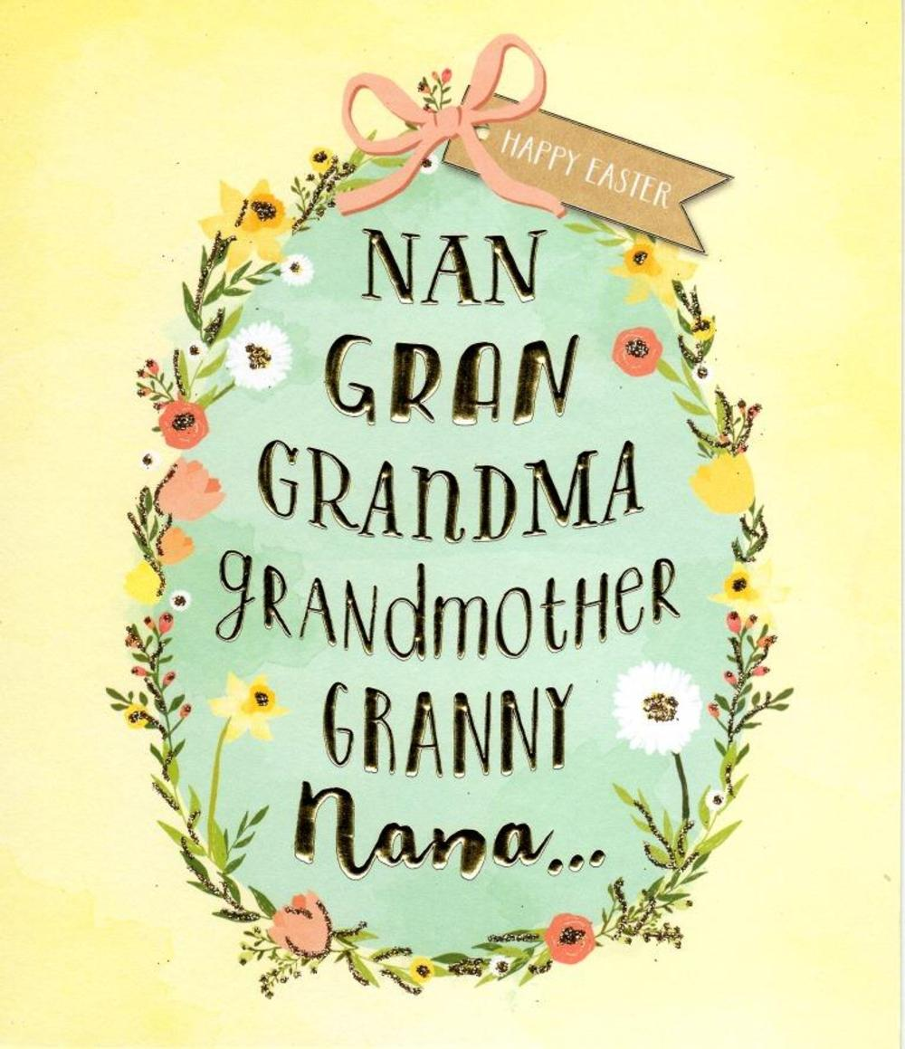 Grandmother Happy Easter Greeting Card