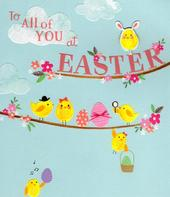 To All Of You At Happy Easter Greeting Card