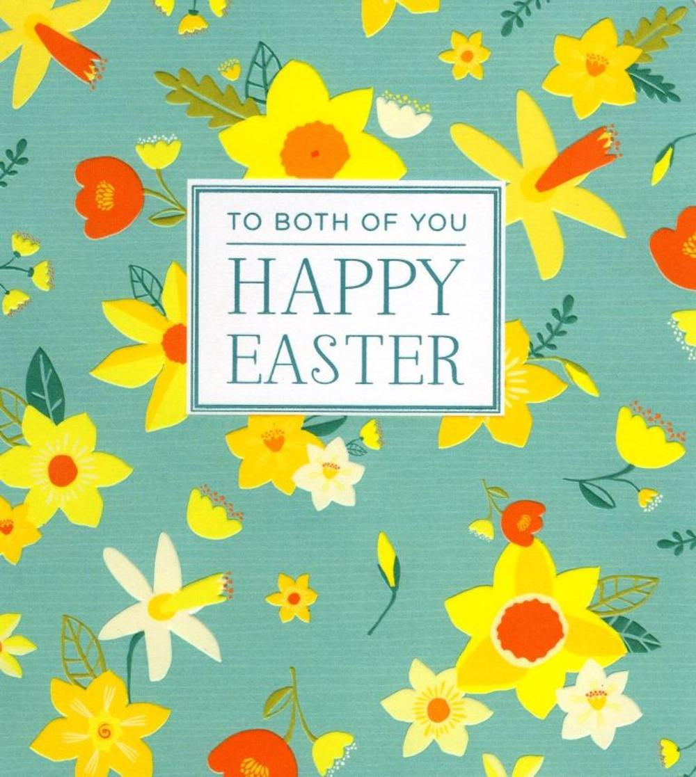 To Both Of You Happy Easter Greeting Card