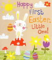 Happy First Easter Little One Cute Greeting Card