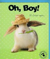 Oh Boy It's Easter Cute Bunny Studio Pets Greeting Card