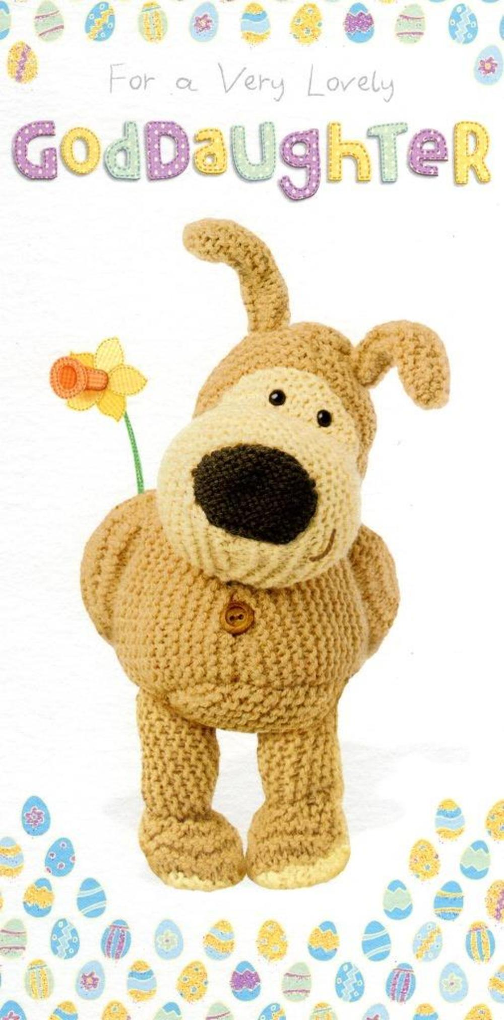 Boofle Goddaughter Happy Easter Greeting Card